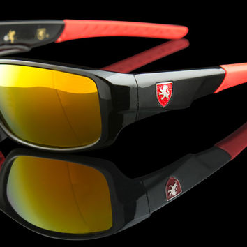"Wraparound Racing Exotic Sunglasses ""Zephyr"""