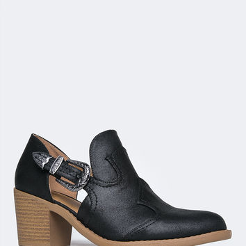 Western Cut Out Bootie