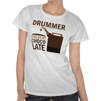 Drummer (Funny) Chocolate Tee Shirts from Zazzle.com