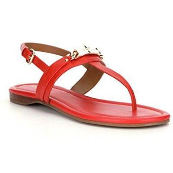DCCKG2C Coach Caterine Womens Leather Thong Sandals ... (7, Carmine)