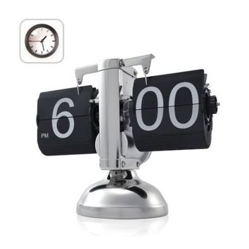 Retro Flip Down Internal Gear Operated Wall Clocks