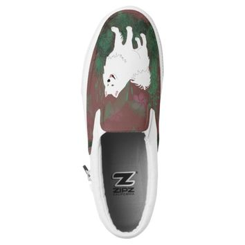 Samoyed Slip-Ons; Mens & Women, Sizes Slip-On Sneakers