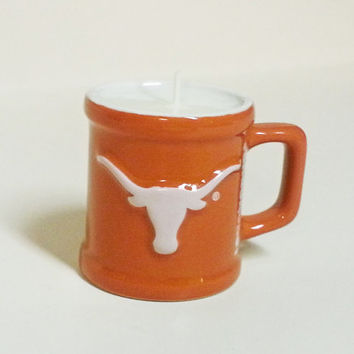Texas Longhorns Soy Candle - Mini Mug Shot Glass Candle - CHOICE OF SCENT