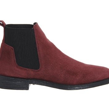 Office Jamie Chelsea Boots Burgundy Suede - Ankle Boots
