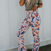 Cher Printed Flare Pants - Island Babe