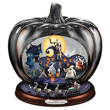 Disney The Nightmare Before Christmas Pumpkin Sculpture: Lights Music And Motion by The Bradford Exchange