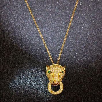 DCCK Cartier Woman Fashion Animal Plated Necklace Jewelry