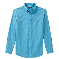 Roundtree & Yorke Trademark Big and Tall Tatersol Check Poplin Sportsh