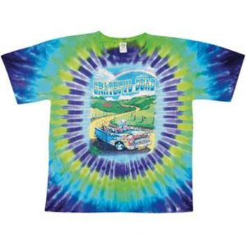Grateful Dead Men's  Truckin' To Buffalo Tie Dye T-shirt Multi