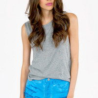 Franny Faded Denim Shorts $46