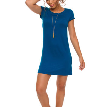 Shop Priceless Lyla Dress - Teal Blue
