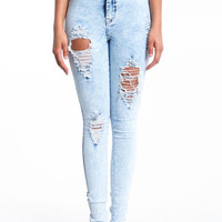 RECKLESS HIGH WAIST SKINNY JEANS