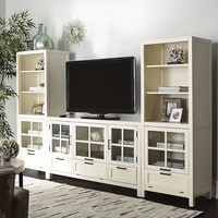 Sausalito Bookcase & Media Tower - Antique White