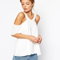 ASOS V Front Cold Shoulder Top