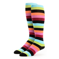 Sock It To Me Bryce T Multicolor Stripe Girls Knee Socks at Zumiez : PDP