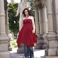 Merlot luxe convertible pixie hem dress or skirt