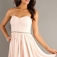 Short Strapless Sweetheart Pink Dress