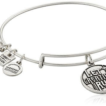 Alex and Ani Charity By Design Let Creativity Rule Rafaelian Silver Bangle Bracelet