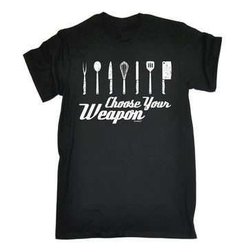 Choose Your Weapon T-SHIRT Chef Cook Cooking Knife Tee