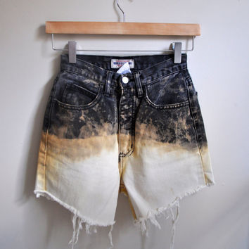 black nebular inspired high-waisted shorts