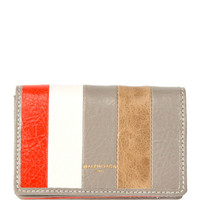 Balenciaga Bazar Striped Card Case