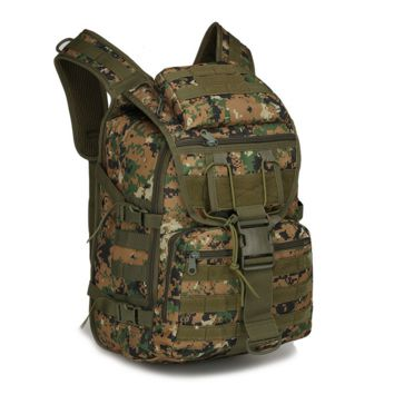 X7 Camo Mountaineering Camping Hiking Military Waterproof Assault Pack Tactical Backpack