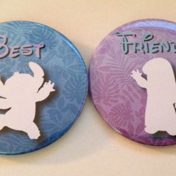 """Lilo and Stitch Inspired """"Best Friends"""" 3"""" Button Set"""