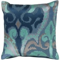 Madagascar Cobalt Ikat Pillow