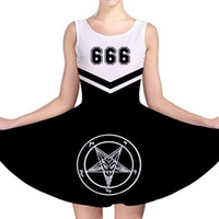 Team Satan cheer leader skater dress