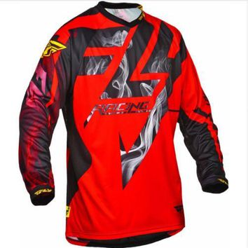 2018 Man's Downhill Jersey Quick Dry Long Sleeve Cycling Jersey Mx Mtb Off Road Mountain Bike DH BMX Breathable Motocross Jersey