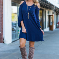 You Go Your Way Dress, Navy