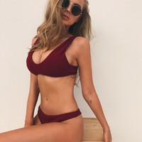 Buy Our Villa Rosa Bikini Set in Maroon Online Today! - Tiger Mist