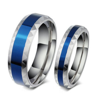 Blue Hammer - FINAL SALE Stainless Steel And Blue Unisex Ring