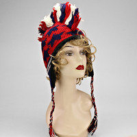 Mohawk Knitted American Hat