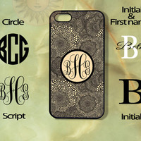 Monogram Graphics Pattern-iPhone 5, 5s, 5c, 4s, 4 case, Ipod touch 5, Samsung GS3, GS4 case-Silicone Rubber or Hard Plastic Cover