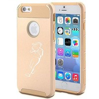 Apple iPhone 6 6s Shockproof Impact Hard Soft Case Cover Softball Player (Gold) - Walmart.com