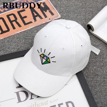 Trendy Winter Jacket RBUDDY 2018 Solid Cute Baseball Caps Diamond  Hip Hop Snapback Cotton Casual Summer Dad Hat for Women Men Outdoor Adjustable Hat AT_92_12
