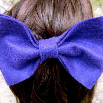 Purple Felt Hair Bow