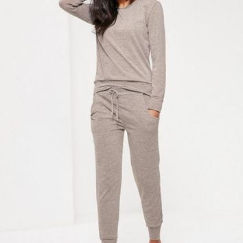 Missguided - Lounge Tracksuit Oatmeal