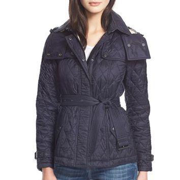 Women's Burberry Brit 'Finsbridge' Short Quilted Jacket,