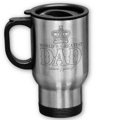 World's Greatest Dad Steel travel mug from Zazzle.com