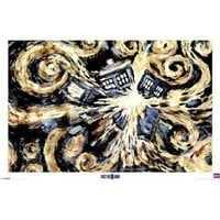 Doctor Who - TV Show Poster (Van Gogh's Exploding Tardis) (Size: 36 x 24) Poster Print, 36x24
