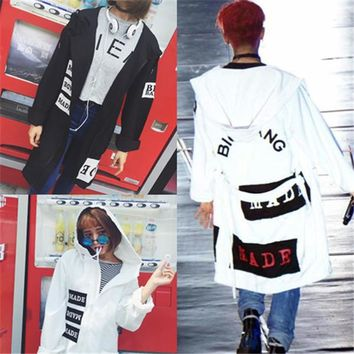 2017 New kPOP Bigbang MADE Loose Cardigan Hoodie GD Same Style Oversized Jacket Men women Unisex Coat KPOP free shipping