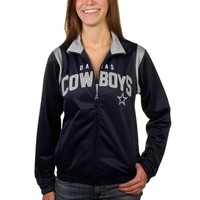 Dallas Cowboys Women's Navy Blue Primetime Track Jacket