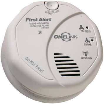 First Alert Onelink Battery-operated Combination Smoke & Carbon Monoxide Alarm With Voice Location