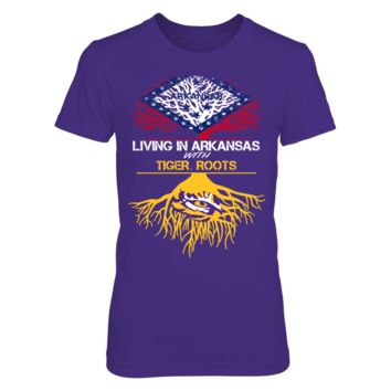 LSU Tigers - Living Roots Arkansas - T-Shirt - Officially Licensed Fashion Sports Apparel