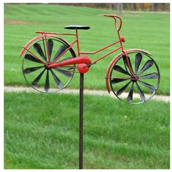 Panacea™ 87059 Lawn Ornament Bicycle Spinner, Red
