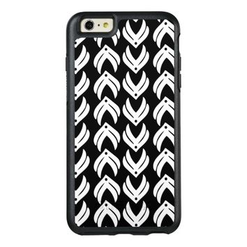 Black and white tribal style pattern OtterBox iPhone 6/6s plus case