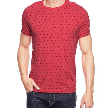 True Religion Horseshoe All Over Mens T-shirt - True Red