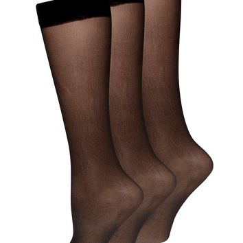 Black 3 pack of knee high socks - Dorothy Perkins